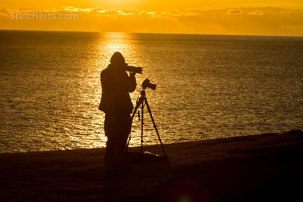 Gabi fotografiert mit zwei Kameras gleichzeitig