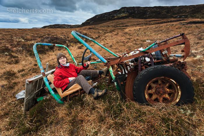 Amy im Suzuki Auto :-) Isle of Lewis