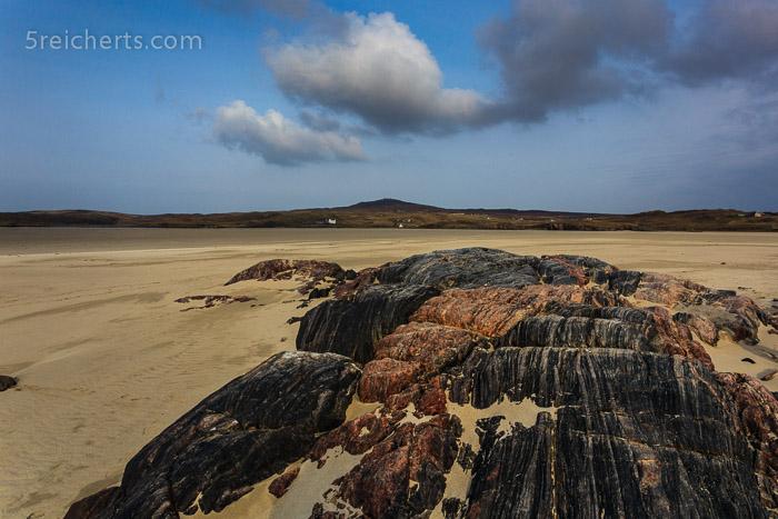 Felsen am Sandstrand, Uig, Isle of Lewis