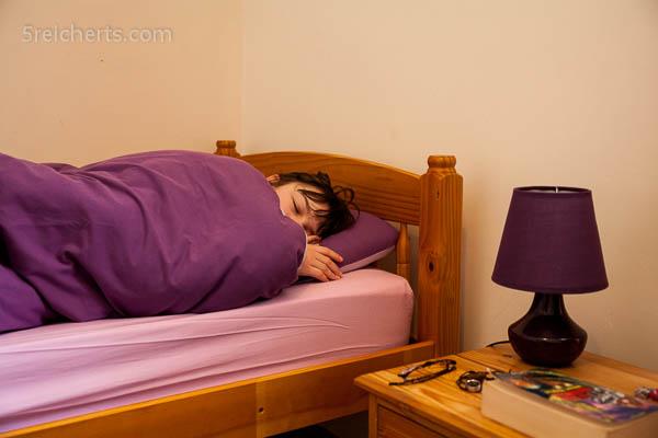 Amy schläft noch...