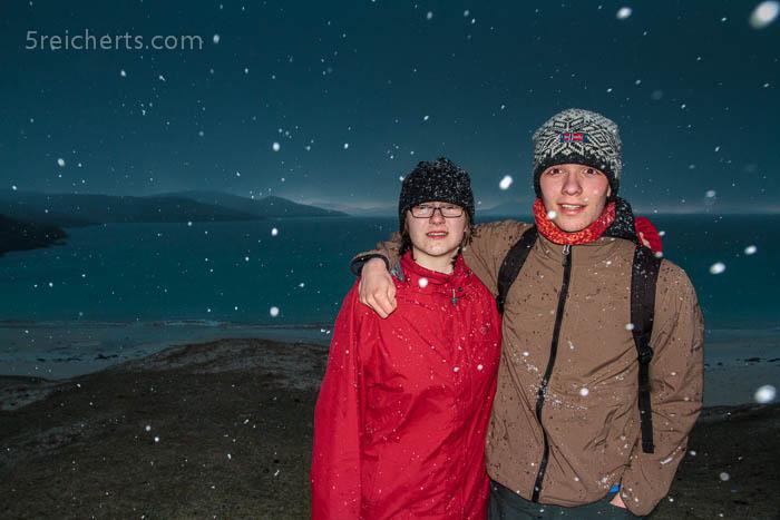 Amy und Esra im Schnee