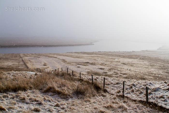 Schnee auf der Isle of Lewis