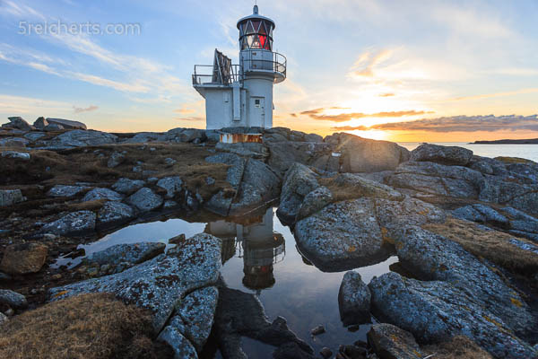 Leuchtturm vor Hamnavoe. Shetland