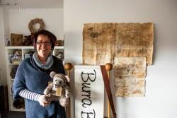 Wendy und ein Burra Bear, Insel Burra Shetland