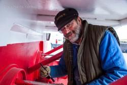 Jonathan überholt die Dunster III, Lerwick, Shetland