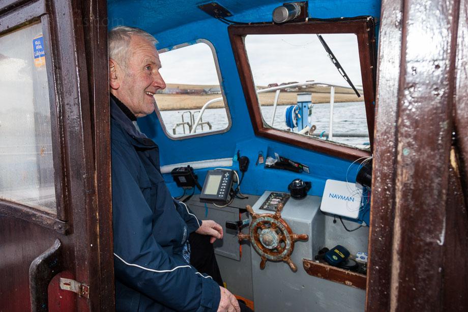 Magnus der Fischer, Burra, Shetland