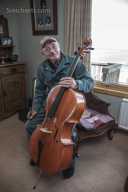 Tommy Isbister und das handgefertigte Cello, Shetland