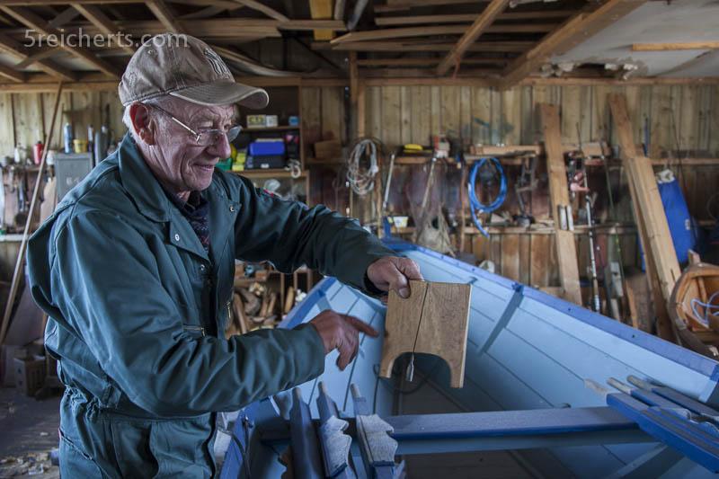Bootsbau, wie finde ich den richtigen Winkel? Tommy Isbister, Shetland