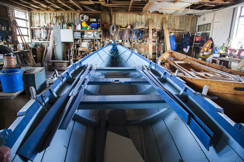 handgefertigtes Holdboot in Tommy Isbisters Werkstatt, Shetland