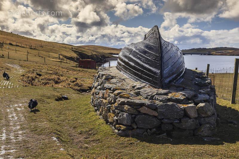 traditionelles Bootshaus, Shetland