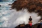 Esra vor den Wellen, Eshaness, Shetland