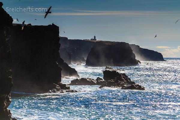 Blick zum Leuchtturm, Eshaness, Shetland