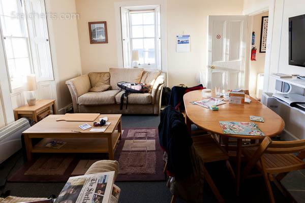 Wohnzimmer des Leuchtturms, Eshaness, Shetland