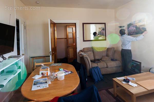 Wohnzimmer des Leuchtturms in Eshaness, Shetland
