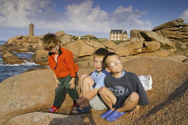 Unsere Kids in der Bretagne