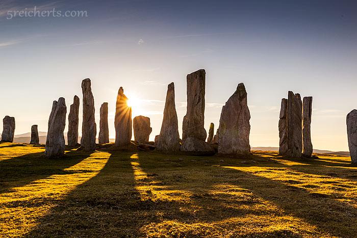 Gegenlichtaufnahmen, Standing Stones of Callanish, Isle of Lewis