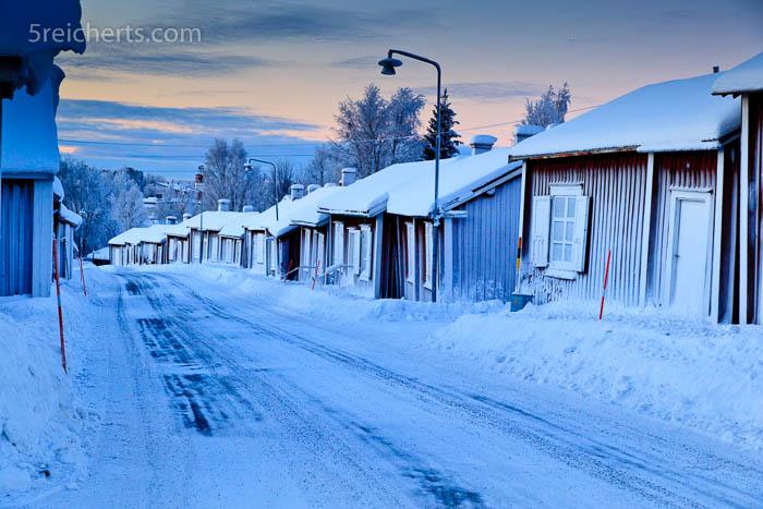 Alter Stadtteil von Lulea, Schweden