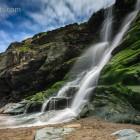 Wasserfall ins Meer