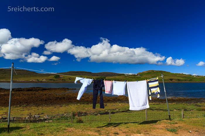 Wäsche und Sonnenschein, Isle of Skye