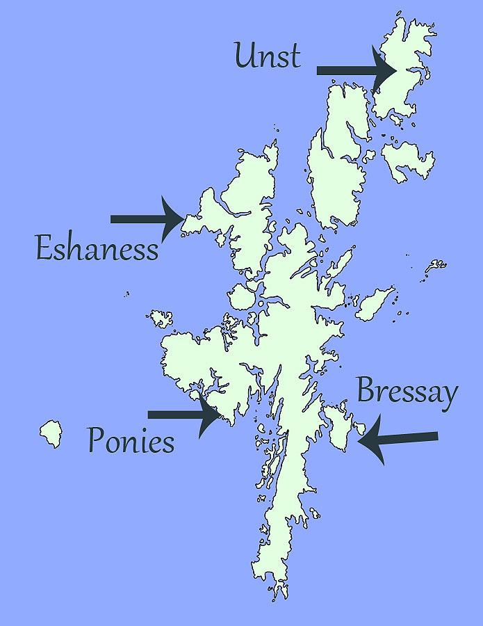 Shetland-Karte