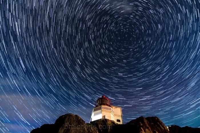Sternklare Nacht auf der kleinen Insel