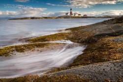 Wellen am Tranøy Fyr
