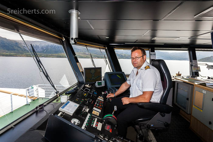 Der Kapitän der Fähre