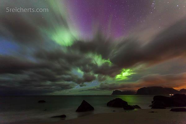 Nordlicht, Sturm und Lichtverschmutzung