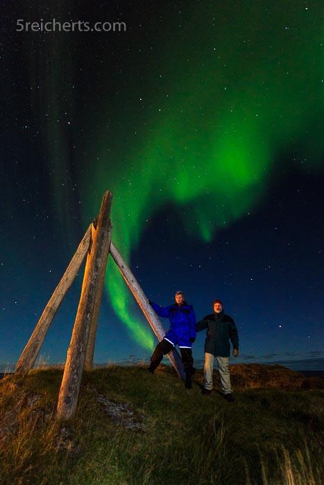 Gabi & Gunter unter dem Nordlicht