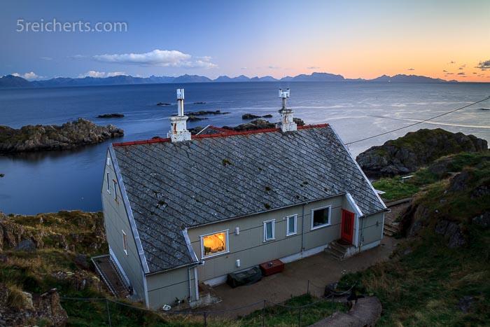 Das Wohnhaus auf der kleinen Insel