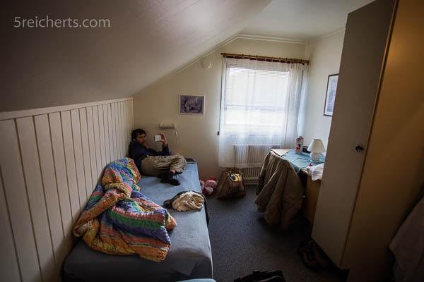 Regenwetter und ein kleines Zimmer