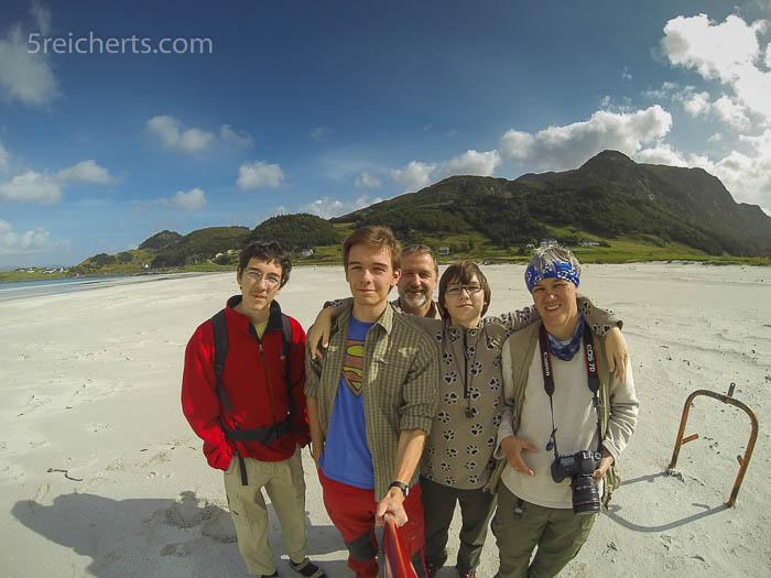 Die 5reicherts in Norwegen, GoPro Aufnahme