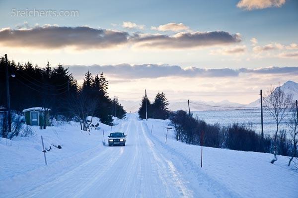 festgefahrene Schneedecke