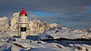 Leuchtturm in Kabelvag, Lofoten