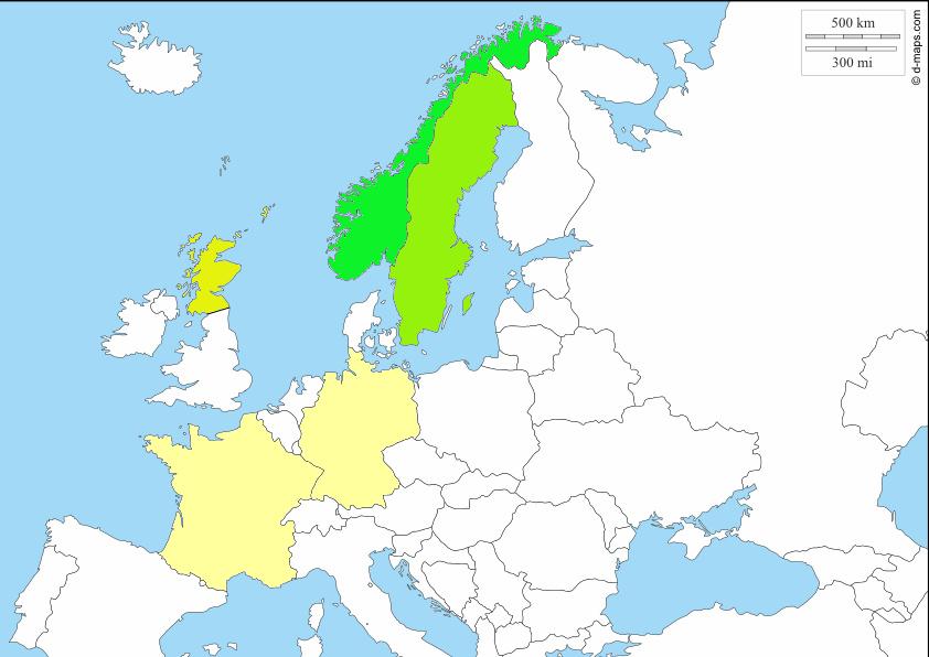 Länder, in denen wir Nordlichter gesichtet haben
