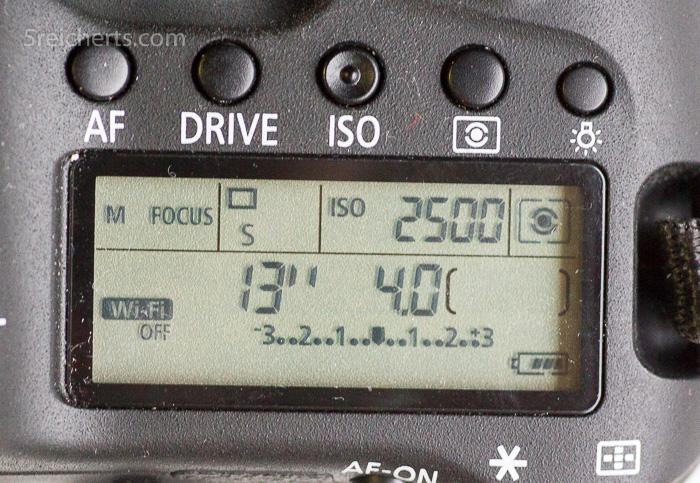 Anzeige auf der Canon D 6