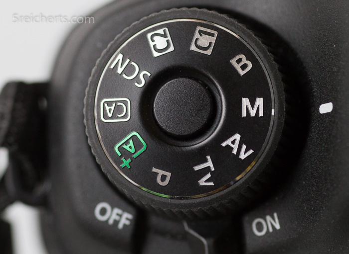 Programmwählrad der Canon 6 D