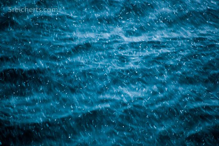 Schnee und Wellen, Lofoten