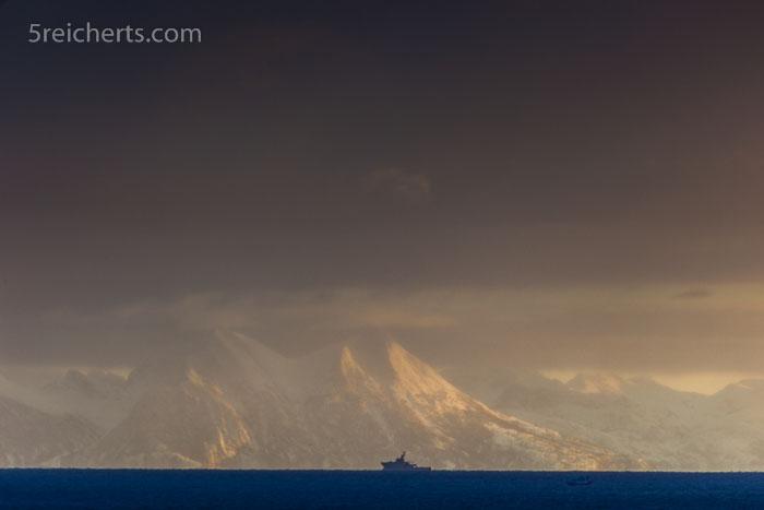 Schneefall, Lofoten
