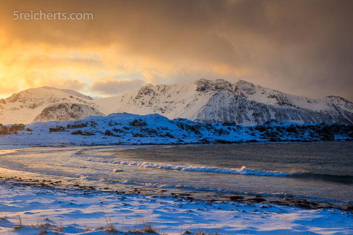 wilde Wetter auf den Lofoten, Norwegen
