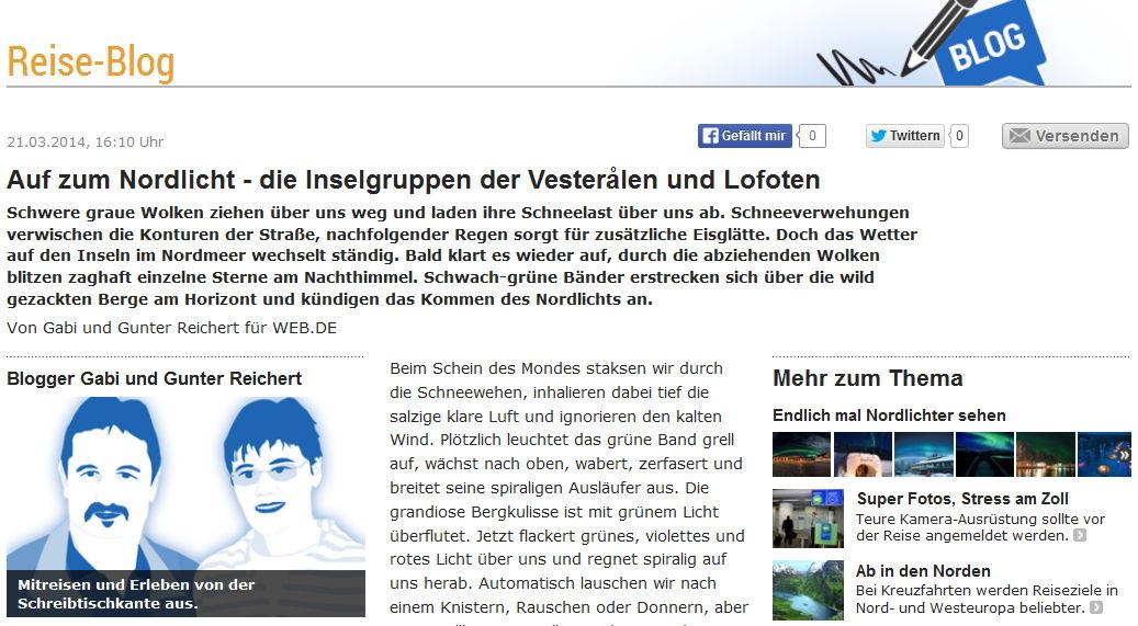 Gabi & Gunter Reichert schreiben für Web.de