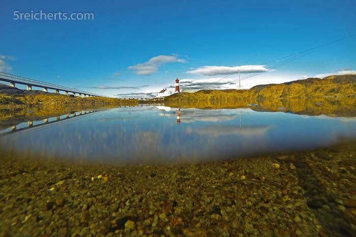 Über und Unterwasserfoto, Tranoy, Norwegen