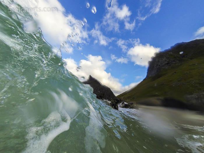Wellen in Myrland, Norwegen