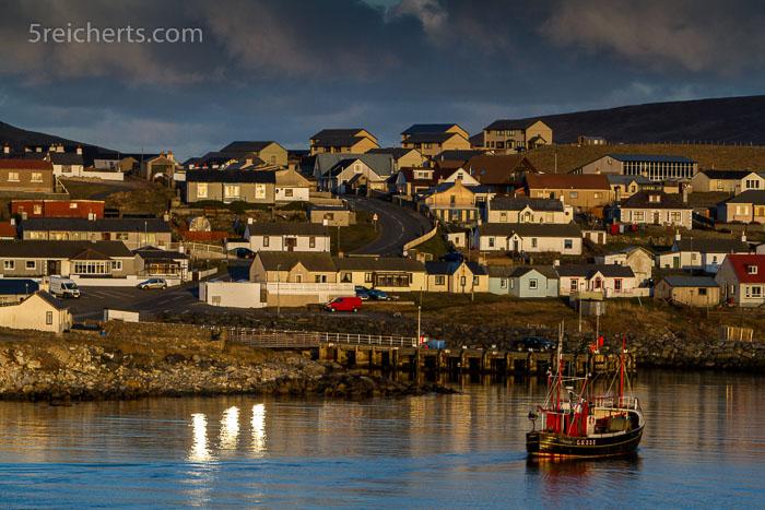 Hamnavoe auf der Insel Burra, Shetland
