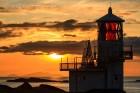 Fugla Ness Lighthouse, Shetland Inseln, Schottland