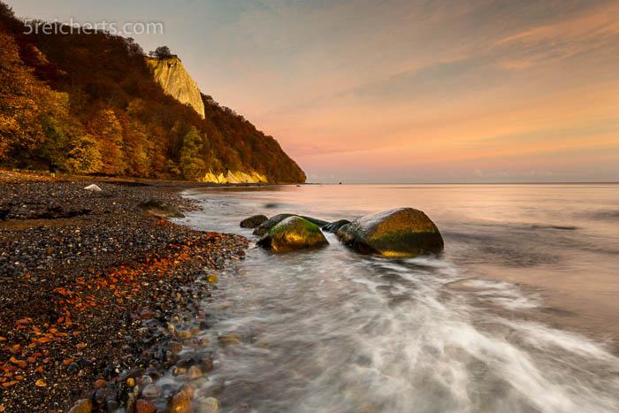 Sonnenaufgang an der Kreideküste Rügen