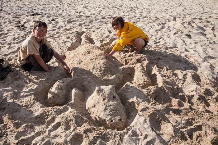 Sandskulpturen, St Ives, Cornwall
