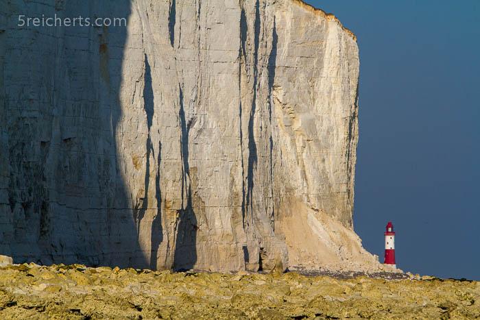 Blick zum Leuchtturm, Beachy Head