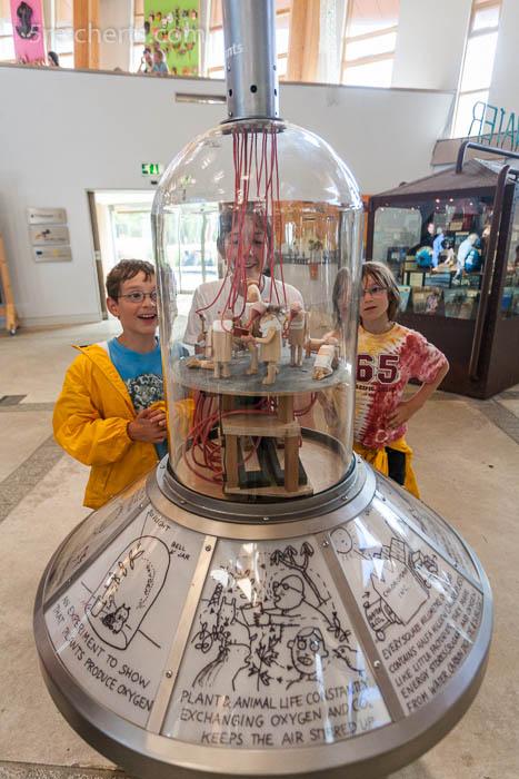 Ja, die Kinder hatten sowas von Spaß, Eden Project, Cornwall