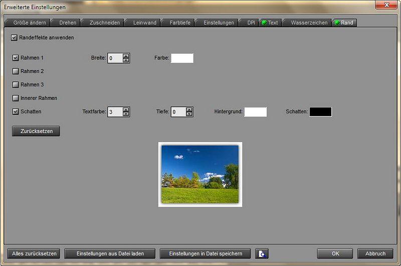 Bei der Stapelkonvertierung können viele Parameter gewählt werden, um große Mengen von Bildern auf einen Rutsch zu modifizieren, oder auch um nur das Format zu ändern.
